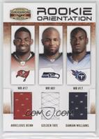 Arrelious Benn, Damian Williams, Golden Tate /250