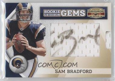 2010 Panini Gridiron Gear #251 - Rookie Gridiron Gems Jumbo Signatures - Sam Bradford /244