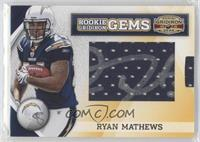 Rookie Gridiron Gems Jumbo Signatures - Ryan Mathews /263