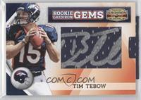 Rookie Gridiron Gems Jumbo Signatures - Tim Tebow /259