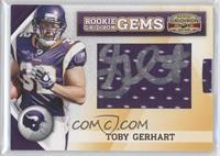 Rookie Gridiron Gems Jumbo Signatures - Toby Gerhart /171