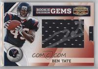 Rookie Gridiron Gems Jumbo Signatures - Ben Tate /205