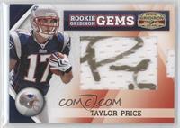 Rookie Gridiron Gems Jumbo Signatures - Taylor Price /184