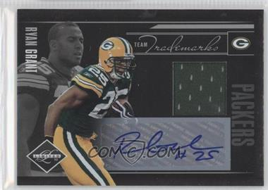2010 Panini Limited Team Trademarks Materials Signatures [Autographed] #14 - Ryan Grant /15