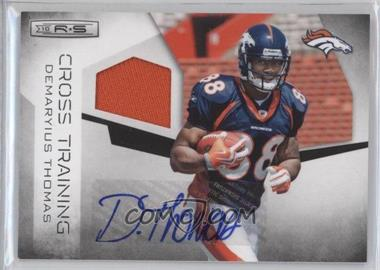 2010 Panini Rookies & Stars Cross Training Materials Signatures [Autographed] [Memorabilia] #33 - Demaryius Thomas /25