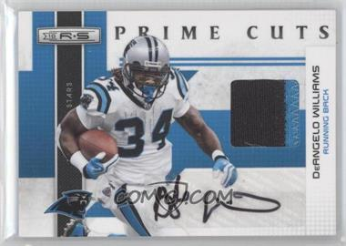 2010 Panini Rookies & Stars Prime Cuts Materials Signatures [Autographed] #5 - DeAngelo Williams /10