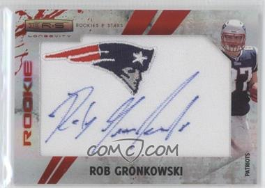 2010 Panini Rookies & Stars SP Rookies Emerald Team Logo Patch Signatures [Autographed] #293 - Rob Gronkowski /5