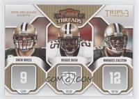 Drew Brees, Marques Colston, Reggie Bush