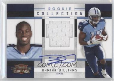 2010 Panini Threads Rookie Collection Materials Signatures [Autographed] #8 - Damian Williams /25