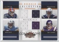 Jahvid Best, Ryan Mathews, C.J. Spiller, Toby Gerhart /299