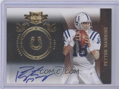 2010 Plates & Patches - [Base] - Infinity Gold Signatures [Autographed] #41 - Peyton Manning /5
