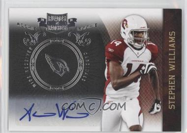 2010 Plates & Patches - [Base] - Infinity Silver Signatures [Autographed] #191 - Stephen Williams /50