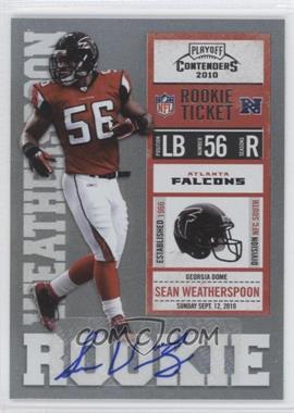 2010 Playoff Contenders - [Base] #187 - Sean Weatherspoon