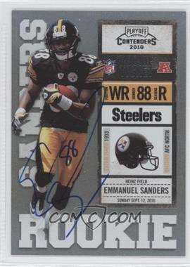 2010 Playoff Contenders - [Base] #212.2 - Emmanuel Sanders (Black Jersey)