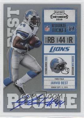 2010 Playoff Contenders - [Base] #217.1 - Jahvid Best