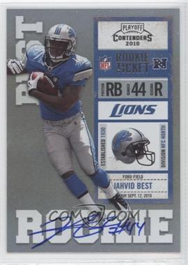 2010 Playoff Contenders - [Base] #217.2 - Jahvid Best (Blue Jersey)