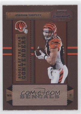 2010 Playoff Contenders - Rookie of the Year Contenders #9 - Jordan Shipley