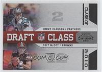 Colt McCoy, Jimmy Clausen /50