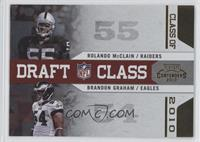 Brandon Graham, Rolando McClain /100
