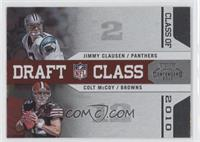 Jimmy Clausen, Colt McCoy