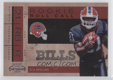 2010 Playoff Contenders Rookie Roll Call #5 - C.J. Spiller
