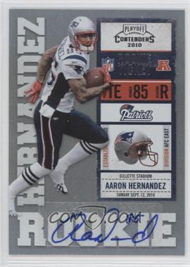 2010 Playoff Contenders #101 - Aaron Hernandez