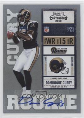 2010 Playoff Contenders #130 - Dominique Curry