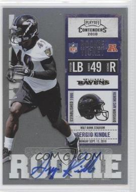 2010 Playoff Contenders #163 - Sergio Kindle