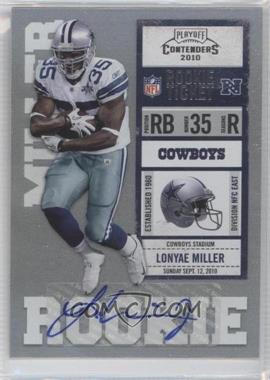 2010 Playoff Contenders #166 - Lonyae Miller