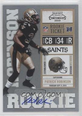 2010 Playoff Contenders #177 - Patrick Robinson