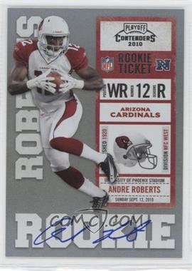 2010 Playoff Contenders #201.1 - Andre Roberts (White Jersey)