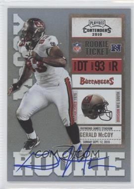 2010 Playoff Contenders #215.1 - Gerald McCoy (White Jersey)