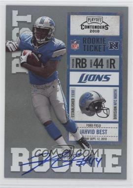 2010 Playoff Contenders #217.1 - Jahvid Best (Blue Jersey)
