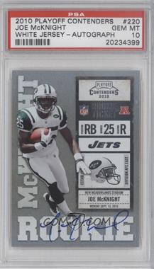 2010 Playoff Contenders #220 - Joe McKnight [PSA 10]
