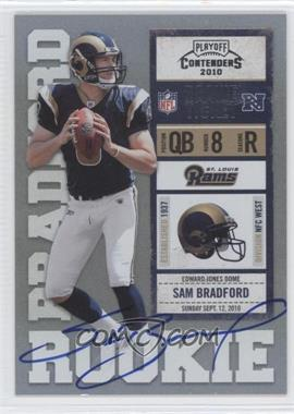 2010 Playoff Contenders #232.1 - Sam Bradford (Both Hands on Ball)