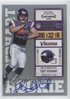 Toby Gerhart (Ball Covers Tops of Numbers)