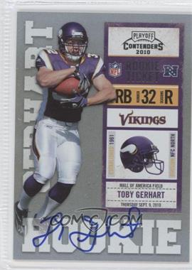 2010 Playoff Contenders #235.2 - Toby Gerhart (Ball Covers Tops of Numbers) /495