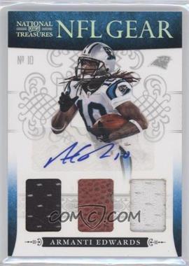 2010 Playoff National Treasures - NFL Gear - Trios Signatures #20 - Armanti Edwards /10