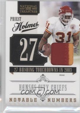 2010 Playoff National Treasures - Notable Numbers - Materials Prime [Memorabilia] #22 - Priest Holmes /50
