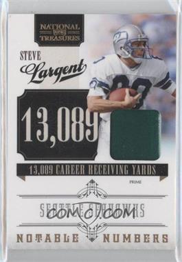 2010 Playoff National Treasures - Notable Numbers - Materials Prime [Memorabilia] #29 - Steve Largent /50
