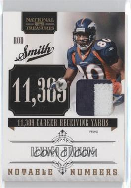 2010 Playoff National Treasures - Notable Numbers - Materials Prime [Memorabilia] #7 - Rod Smith /50