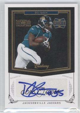 2010 Playoff National Treasures Century Gold Signatures [Autographed] #225 - Deji Karim /25