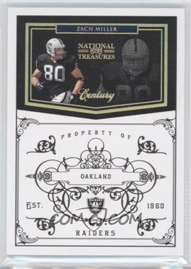 2010 Playoff National Treasures Century Gold #110 - Zach Miller /10