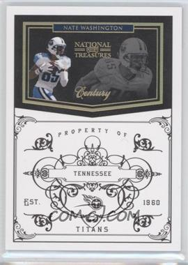 2010 Playoff National Treasures Century Gold #145 - Nate Washington /10
