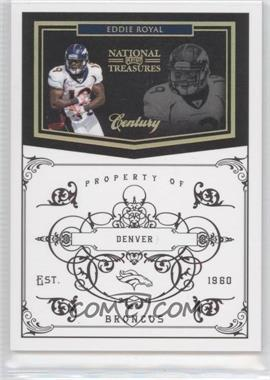 2010 Playoff National Treasures Century Gold #43 - Eddie Royal /10