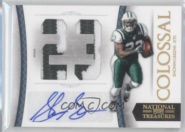 2010 Playoff National Treasures Colossal Jersey Number Signatures Prime #54 - Shonn Greene /5