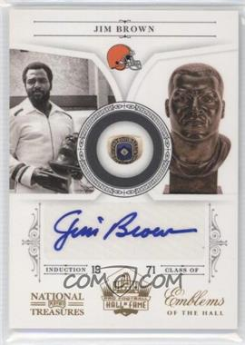 2010 Playoff National Treasures Emblems of the Hall Signatures [Autographed] #15 - Jim Brown /39