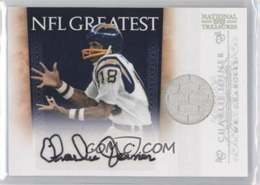 2010 Playoff National Treasures NFL Greatest Signature Materials [Autographed] [Memorabilia] #2 - Charlie Joiner /25