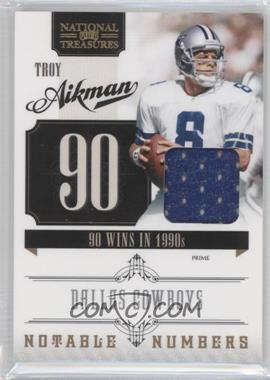 2010 Playoff National Treasures Notable Numbers Materials [Memorabilia] #32 - Troy Aikman /99