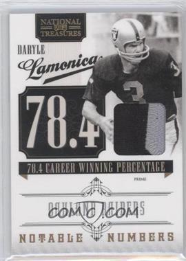 2010 Playoff National Treasures Notable Numbers Materials Prime [Memorabilia] #15 - Daryle Lamonica /50